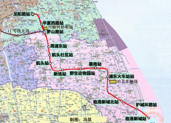 上海16号线地铁线路图