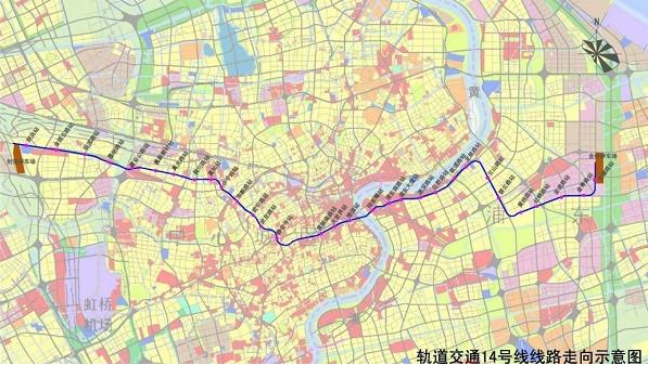 上海地铁14号线线路图图片