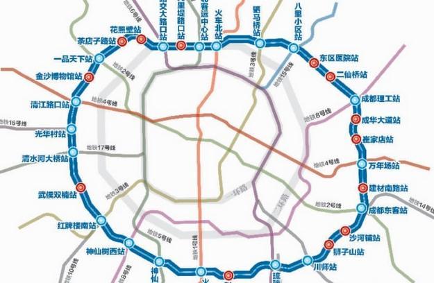 成都地铁5号线线路图-成都地铁5号线分两期工程建设图片