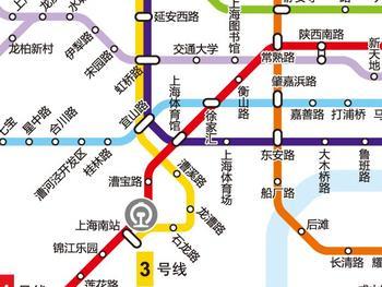 上海地铁3号线线路图|上海地铁3号线线路图新闻|最新