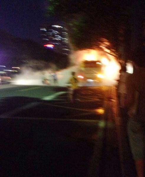 广州301路公交车路线爆炸起火事件-公交资讯-