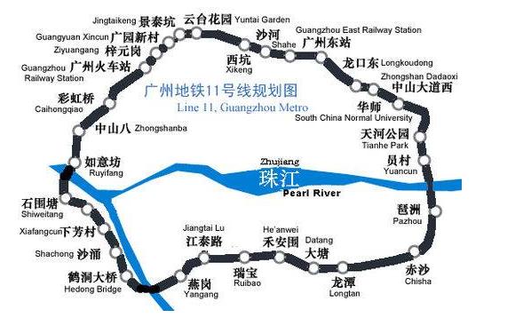 广州地铁十一号线线路图图片