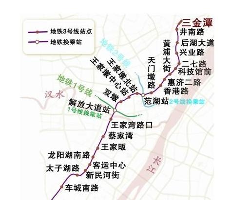 武汉地铁3号线最新线路图图片