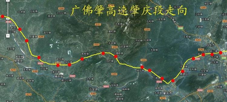 广佛肇高速公路地图
