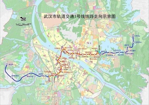 武汉地铁7号线线路图图片