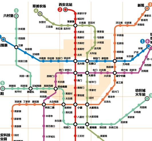 西安地铁三号线路图图片