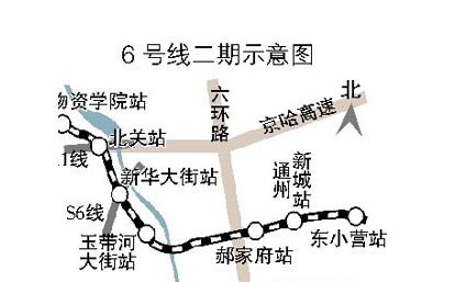 北京/北京地铁6号线二期通车时间|北京地铁6号线二