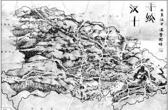 汉十高速公路手绘地图|客运动态|客运站