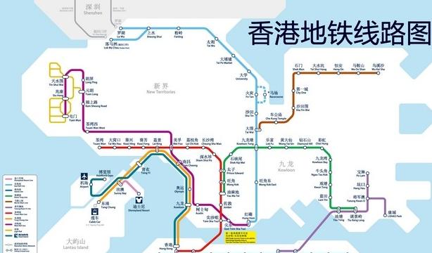 香港地铁线路图图片
