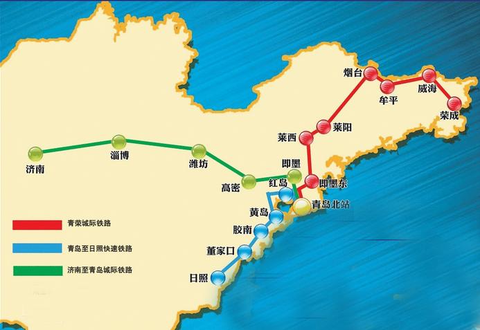 上海到烟台的高铁