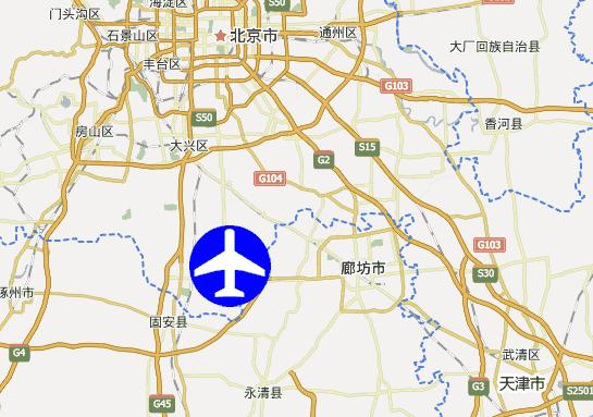 北京新机场位置图片