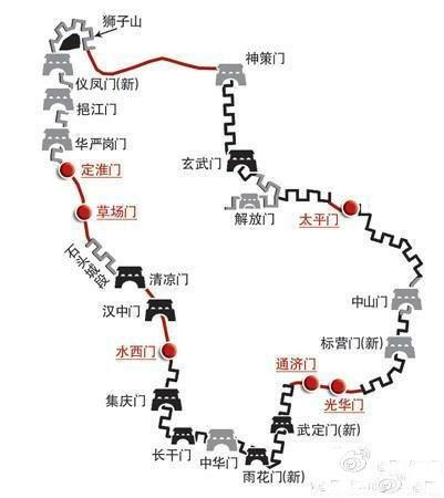 现存的南京城墙建于
