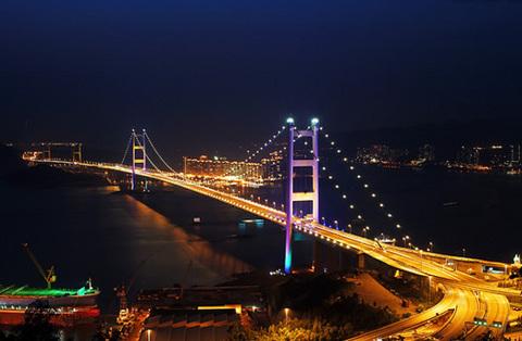 香港青马大桥景点图片 香港青马大桥旅游景点照片 香港青...