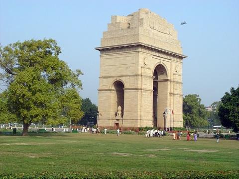 印度新德里印度门景点图片 印度新德里印度门旅游景点照...