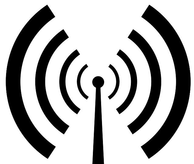 信号塔 矢量线条
