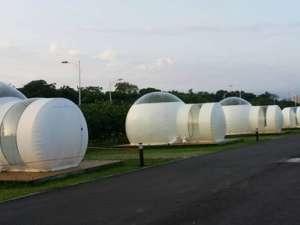 """台湾建首个""""泡泡""""露营地:全透明"""