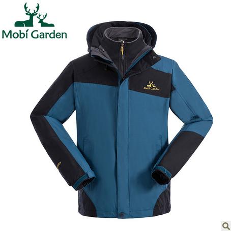 牧高笛户外异色袖不对称设计三合一秋冬冲锋衣男款ZMB1318054